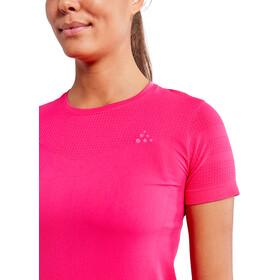 Craft Fuseknit Light Camiseta Manga Corta Cuello Redondo Mujer, rosa
